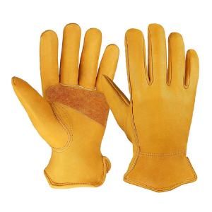 OZERO Flex-Grip Leather Work Gloves